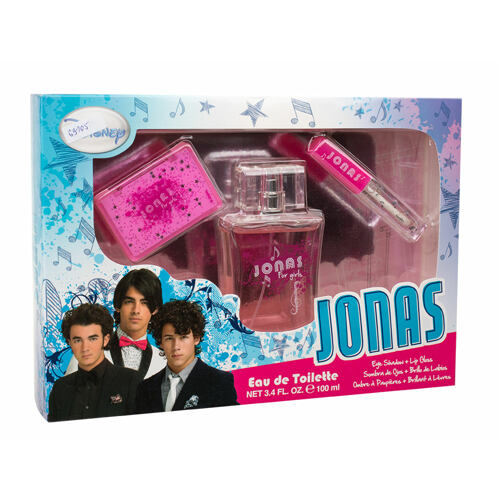 Disney Jonas EDT EDT 100 ml + oční stíny 2,55 g + lesk na rty 2 ml Unisex