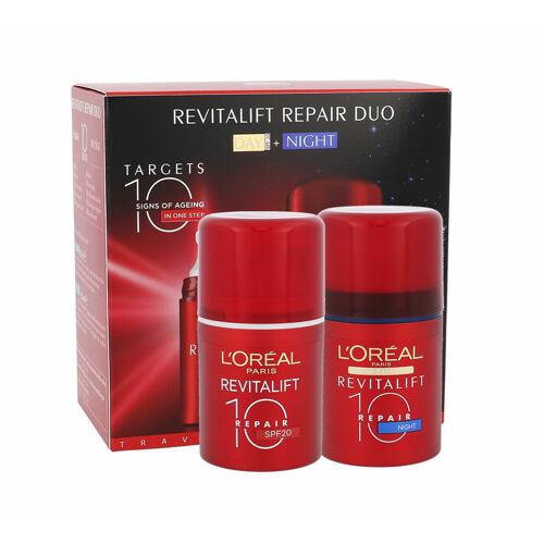L´Oréal Paris Revitalift 10 Repair denní pleťový krém denní pleťová péče 50 ml + noční pleťová péče 50 ml pro ženy