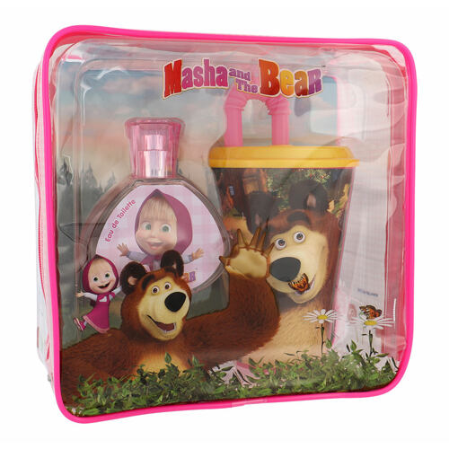Disney Masha and The Bear EDT EDT 50 ml + kelímek na pití s brčkem + kosmetická taška Unisex