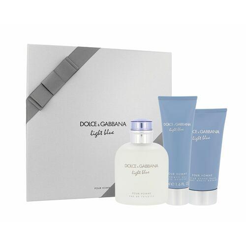 Dolce&Gabbana Light Blue Pour Homme EDT EDT 125 ml + balzám po holení 75 ml + sprchový gel 50 ml pro muže