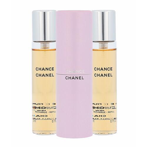 Chanel Chance EDT 3x20 ml Poškozená krabička Twist and Spray pro ženy