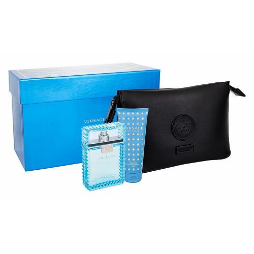 Versace Man Eau Fraiche EDT EDT 100 ml + sprchový gel 100 ml + kosmetická taška pro muže