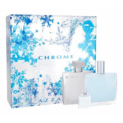 Azzaro Chrome EDT EDT 100 ml + balzám po holení 100 ml + EDT 7 ml pro muže