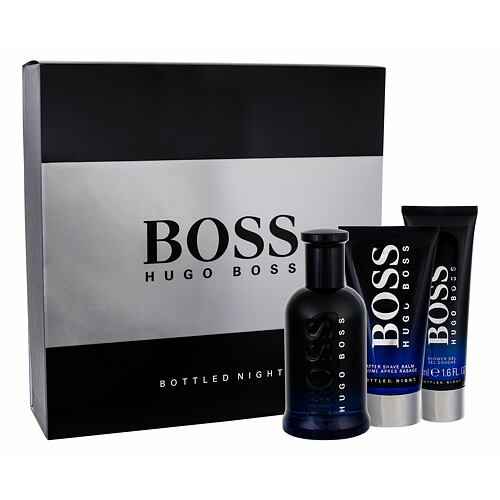 HUGO BOSS Boss Bottled Night EDT EDT 100 ml + balzám po holení 75 ml + sprchový gel 50 ml pro muže