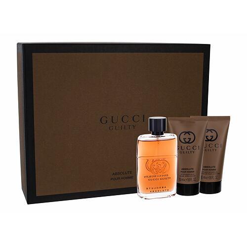 Gucci Guilty Absolute Pour Homme EDP EDP 50 ml + balzám po holení 50 ml + sprchový gel 50 ml pro muže