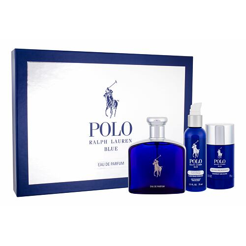 Ralph Lauren Polo Blue EDP EDP 125 ml + deostick 75 ml + hydratační pleťové mléko 75 ml pro muže