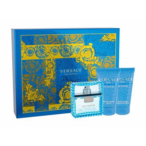 Versace Man Eau Fraiche EDT EDT 50 ml + sprchový gel 50 ml + balzám po holení 50 ml pro muže
