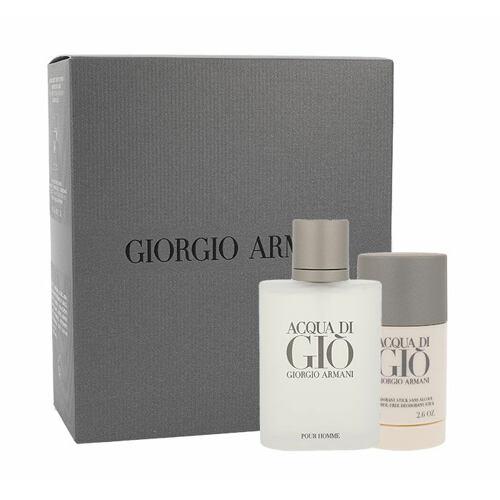 Giorgio Armani Acqua di Gio Pour Homme EDT EDT 100 ml + ručník 1 ks + EDP Acqua di Gioia 1,5 ml pro muže