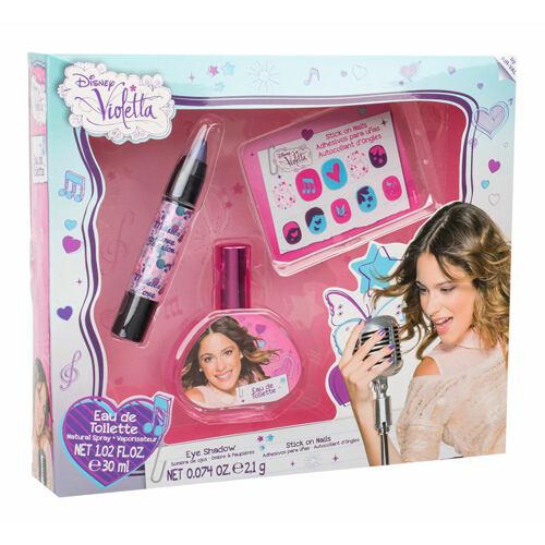 Disney Violetta EDT EDT 30 ml + oční stíny 2,1 g + samolepky na nehty Unisex