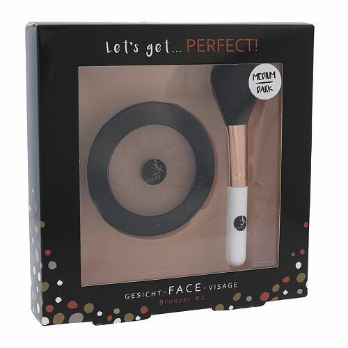 2K Let´s Get Perfect! bronzer bronzer 10 g + kosmetický štětec 1 ks pro ženy