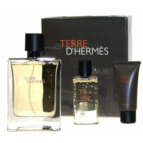 Hermes Terre D´Hermes parfém parfém 75 ml + sprchový gel 40 ml + balzám po holení 15 ml Poškozená krabička pro muže