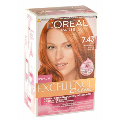 L´Oréal Paris Excellence Creme barva na vlasy 192 ml Poškozená krabička pro ženy