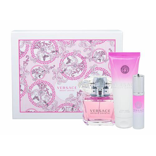 Versace Bright Crystal EDT EDT 90 ml + tělové mléko 100 ml + EDT 10 ml pro ženy