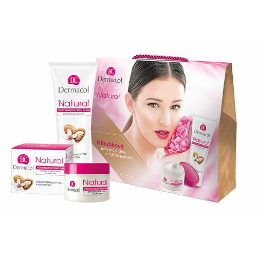 Dermacol Natural Almond denní pleťový krém denní pleťový krém 50 ml + krém na ruce 100 ml pro ženy