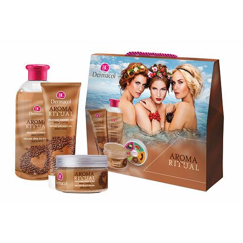 Dermacol Aroma Ritual Irish Coffee pěna do koupele pěna do koupele 500 ml + sprchový gel 250 ml + tělový peeling 200 g pro ženy