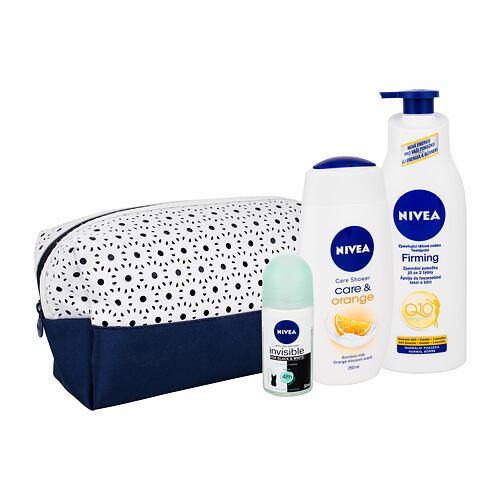 Nivea Care & Orange sprchový gel dárková kazeta pro ženy