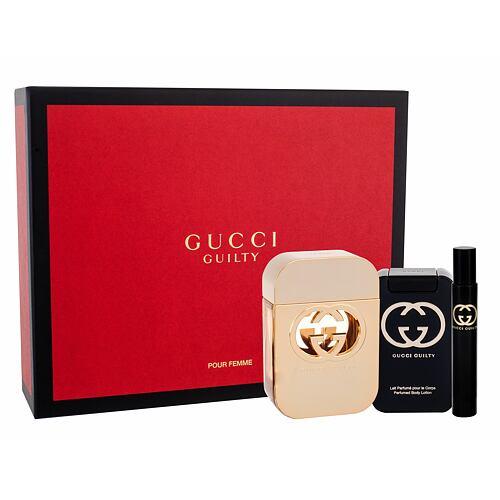 Gucci Gucci Guilty EDT EDT 75 ml + tělové mléko 100 ml + EDT 7,4 ml pro ženy