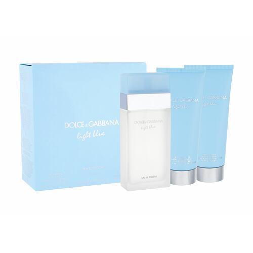 Dolce&Gabbana Light Blue EDT EDT 100 ml + tělový krém 100 ml + sprchový gel 100 ml pro ženy