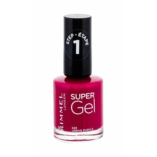 Lak na nehty Rimmel London Super Gel STEP1 12 ml 025 Urban Purple