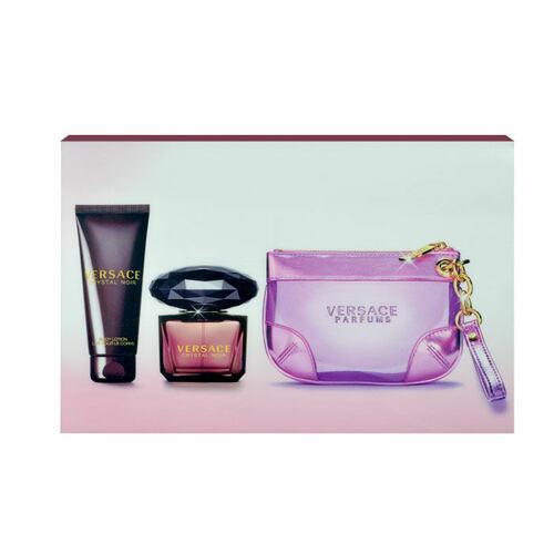 Versace Crystal Noir EDP EDP 90 ml + tělové mléko 100 ml + kabelka pro ženy