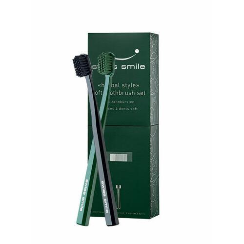 Swiss Smile Herbal Style zubní kartáček měkký zubní kartáček Black 1 ks + měkký zubní kartáček Green 1 ks Unisex