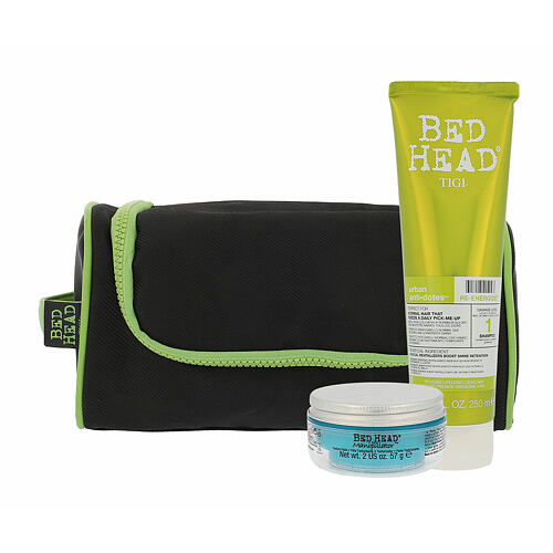 Tigi Bed Head Re-Energize šampon šampon Re-Energize 250 ml + modelační krém na vlasy Bed Head Manipulator Texturizer 57 ml + taštička pro ženy