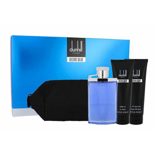 Dunhill Desire Blue EDT EDT 100 ml + sprchový gel 90 ml + balzám po holení 90 ml + kosmetická taška pro muže