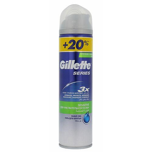 Gillette Series Sensitive gel na holení 240 ml pro muže