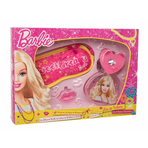 Barbie Barbie EDT EDT 100 ml + lesk na rty 2 g + maska na spaní Unisex