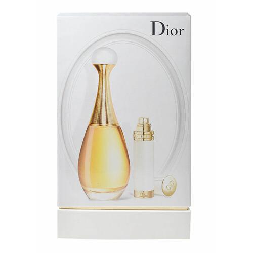 Christian Dior J´adore EDP EDP 100 ml + EDT naplnitelný travel spray 7,5 ml Poškozená krabička pro ženy