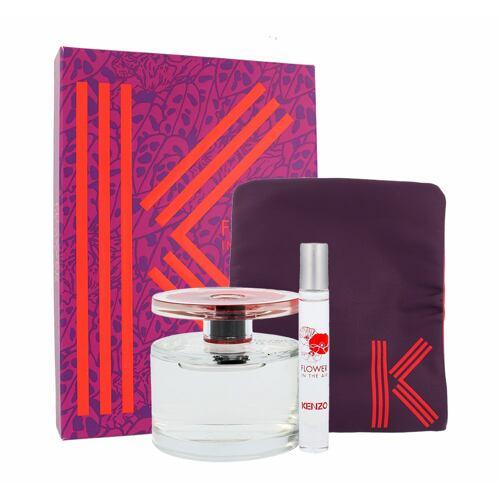 Kenzo Flower In The Air EDP EDP 100 ml + parfemovaná voda 7,5 ml + kosmetická taška Poškozená krabička pro ženy