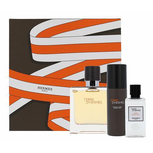 Hermes Terre D´Hermes parfém parfém 75 ml + voda po holení 40 ml + pěna na holení 50 ml pro muže