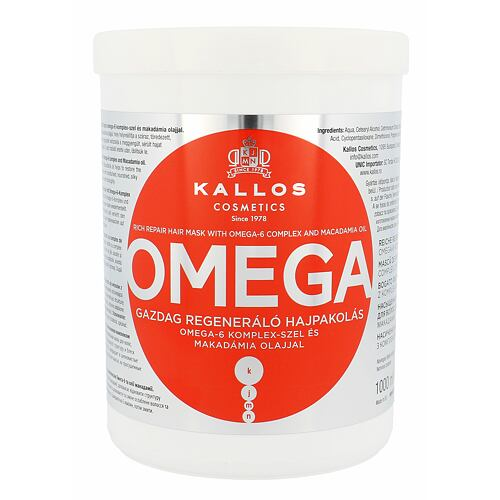 Kallos Cosmetics Omega maska na vlasy 1000 ml pro ženy