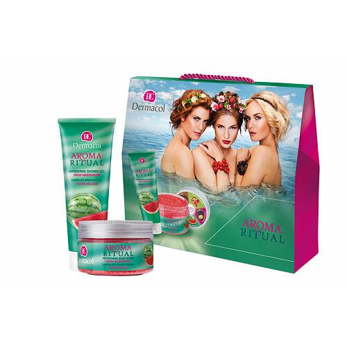 Dermacol Aroma Ritual Fresh Watermelon sprchový gel sprchový gel 250 ml + tělový peeling 200 g pro ženy
