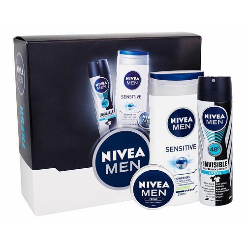 Nivea Men Sensitive sprchový gel dárková kazeta pro muže