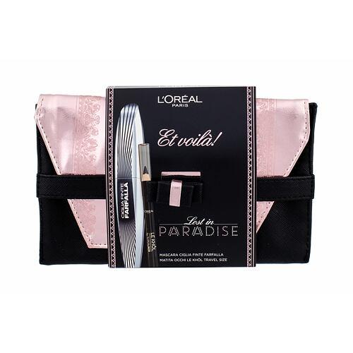 L´Oréal Paris False Lash Wings řasenka řasenka 7 ml + tužka na oči Le Khol 1 g 101 Midnight Black + psaníčko pro ženy
