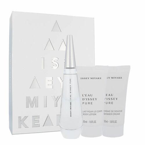 Issey Miyake L´Eau D´Issey Pure EDP EDP 50 ml + tělové mléko 50 ml + sprchový krém 50 ml pro ženy