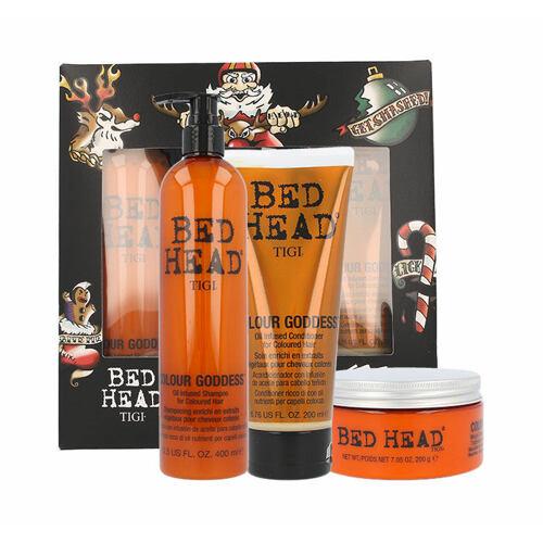 Tigi Bed Head Colour Goddess šampon šampon 400 ml + kondicionér 200 ml + maska na vlasy 200 g pro ženy