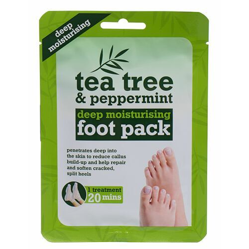 Xpel Tea Tree Tea Tree & Peppermint Deep Moisturising Foot Pack krém na nohy 1 ks pro ženy