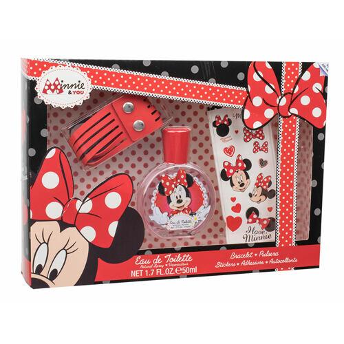 Disney Minnie Mouse EDT EDT 50 ml + náramek + samolepky Unisex
