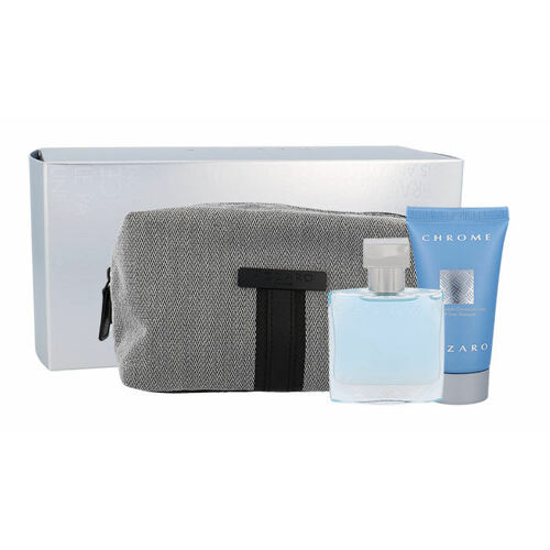 Azzaro Chrome EDT EDT 30 ml + sprchový gel 50 ml + kosmetická taška Poškozená krabička pro muže