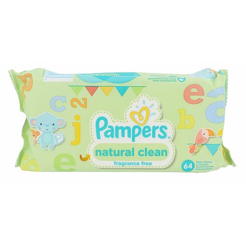 Pampers Baby Wipes Natural Clean čisticí ubrousky 64 ks Unisex