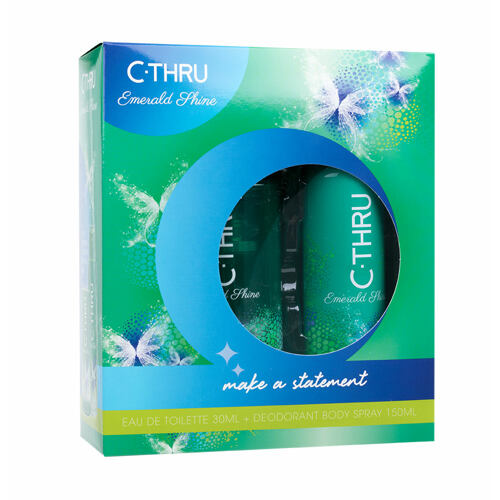C-THRU Emerald Shine EDT EDT 30 ml + deodorant 150 ml Poškozená krabička pro ženy
