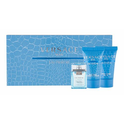 Versace Man Eau Fraiche EDT EDT 5 ml + sprchový gel 25 ml + balzám po holení 25 ml pro muže