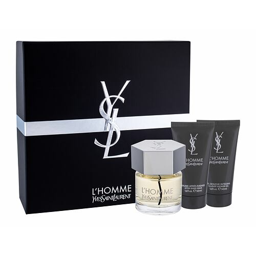 Yves Saint Laurent L´Homme EDT EDT 60 ml + balzám po holení 50 ml + sprchový gel 50 ml pro muže