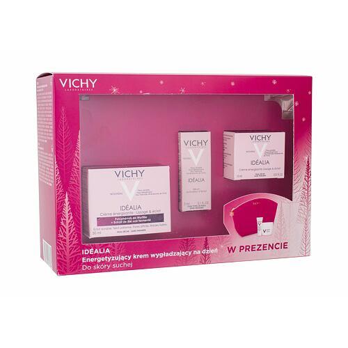Vichy Idéalia Energizing denní pleťový krém denní pleťová péče 50 ml + denní pleťová péče 15 ml + pleťové sérum 3 ml + kosmetická taška 1 ks pro ženy