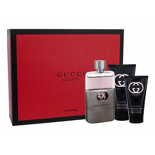 Gucci Guilty Pour Homme EDT EDT 90 ml + balzám po holení 75 ml + sprchový gel 50 ml pro muže