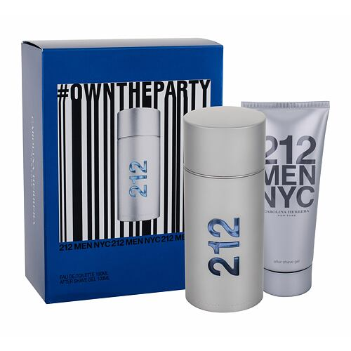 Carolina Herrera 212 NYC Men EDT EDT 100 ml + gel po holení 100 ml pro muže