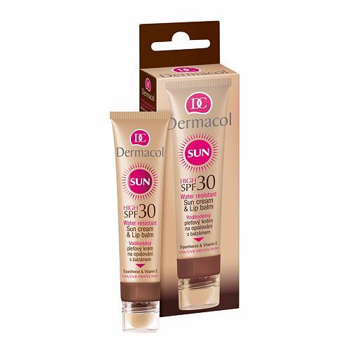Dermacol Sun Cream & Lip Balm SPF30 opalovací přípravek na obličej 30 ml pro ženy