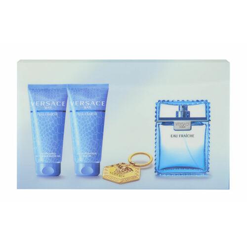 Versace Man Eau Fraiche EDT EDT 100 ml + balzám po holení 100 ml + sprchový gel 100 ml + klíčenka pro muže
